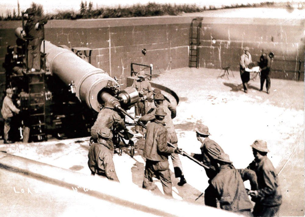 Battery Moore Gun #1, pre 1915