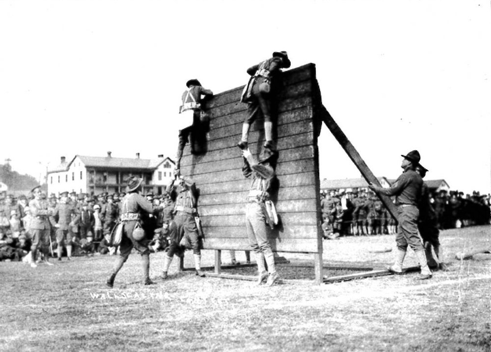 Obstacle Course Competition, Fort Worden, 1912